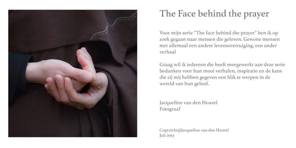 Jacqueline van den Heuvel Face behind a prayer