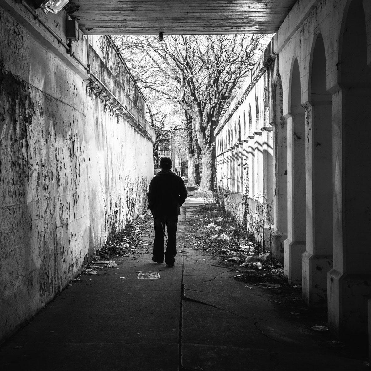 Joshua, dakloos in Chicago